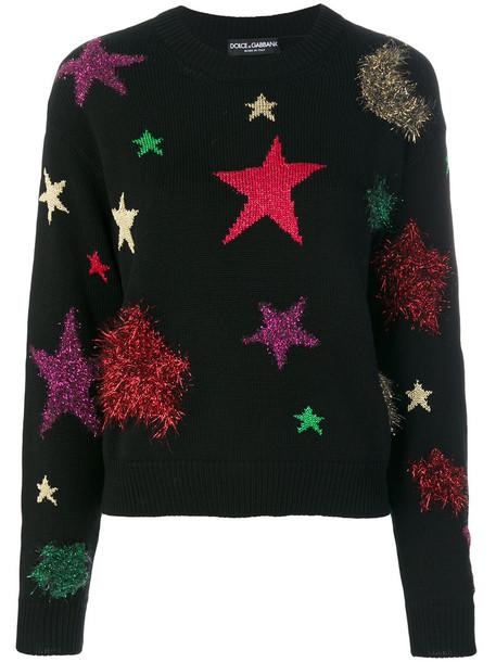 Dolce & Gabbana sweater women cotton black wool