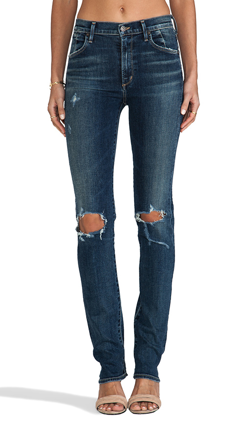 Citizens of humanity premium vintage arley high waist straight leg in ramone from revolveclothing.com