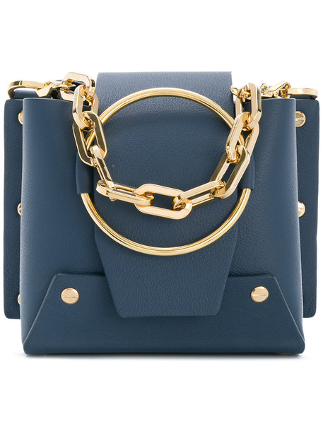 mini women bag mini bag leather blue