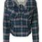 Vivienne westwood - fitted check jacket - women - cotton/viscose - 44, blue, cotton/viscose