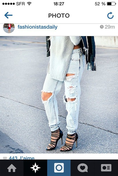 jeans pants like shoes pullover