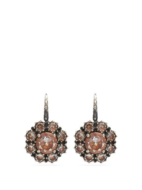 Bottega Veneta silver earrings earrings silver brown jewels