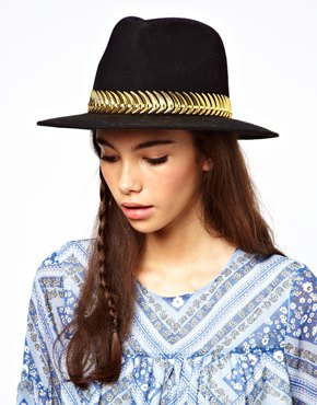 ASOS | ASOS Felt Fedora With Metal Band at ASOS