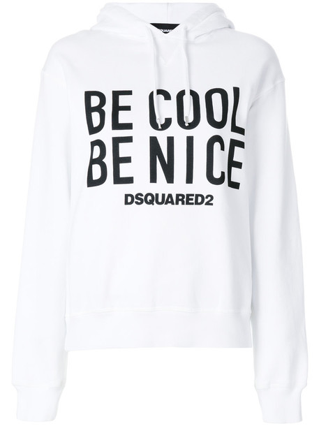 Dsquared2 hoodie cool women white cotton sweater