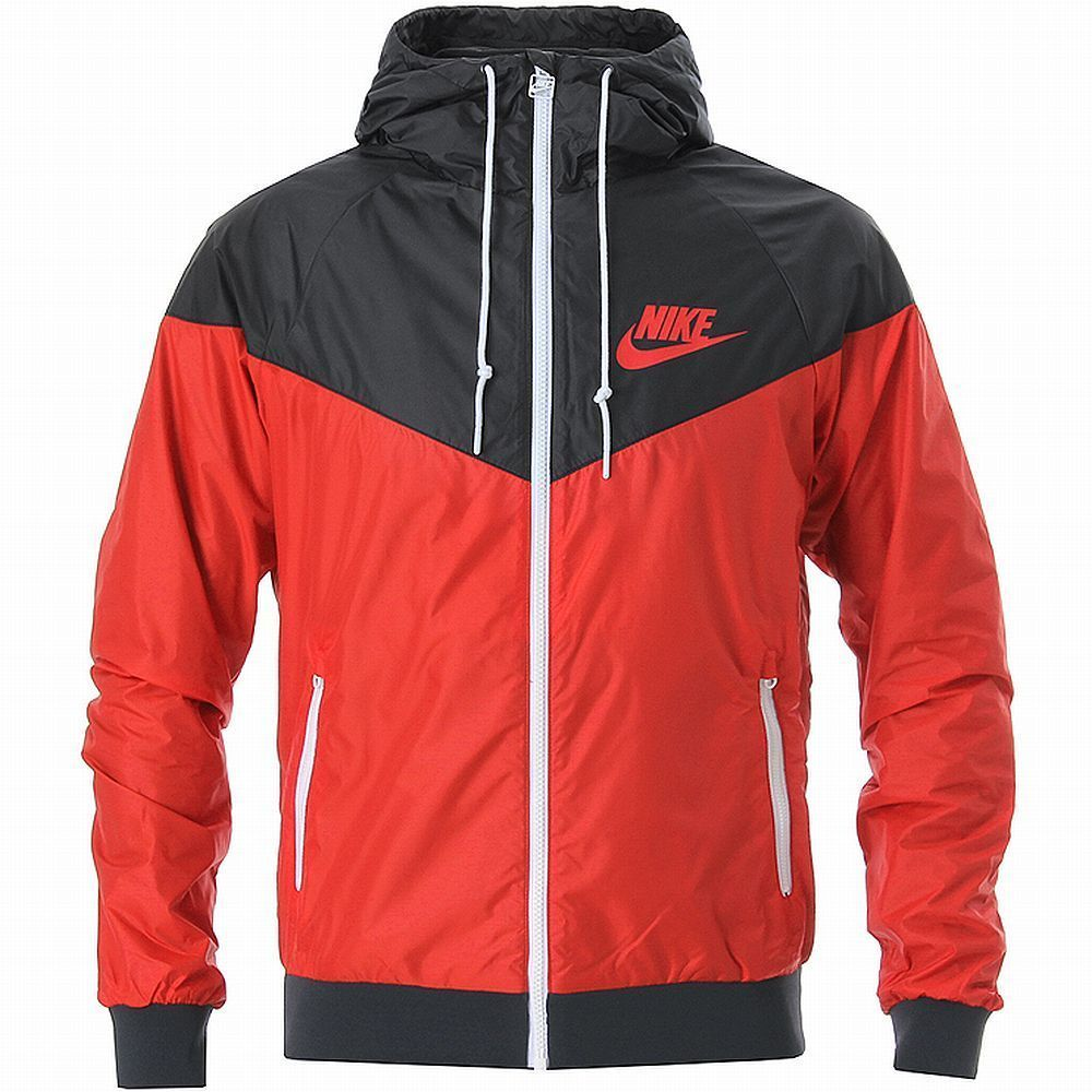 NIKE WINDRUNNER HOODY JACKET Red-Black-White windbreaker training Asian Size new