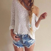 denim,jeans,high waisted,summer shorts,crochet,lace up,top,t-shirt,bra,bralette,bustier,beige,necklace,jewels,summer outfits,beach,hot,style,classy,ripped jeans,denim shorts,skinny pants,High waisted shorts,knitwear,lace top,corset top,white,white t-shirt,white crop tops,streetwear,streetstyle,hair accessory