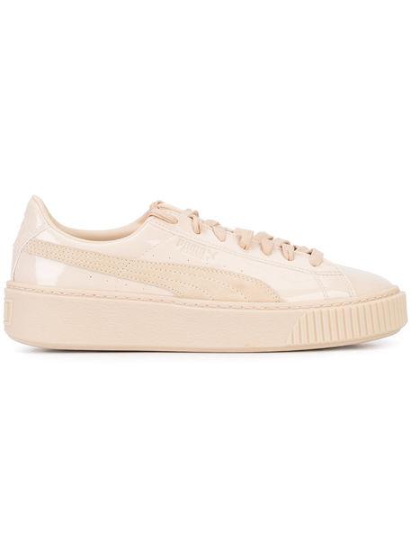 Puma Basket Platform sneakers women Patent LeatherSuederubber 6.5, NudeNeutrals, Patent LeatherSuederubber