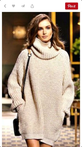 40c1a8dff dress oversized sweater sweater apricot apricot skirt apricot dress apricot  and black polo neck polo neck