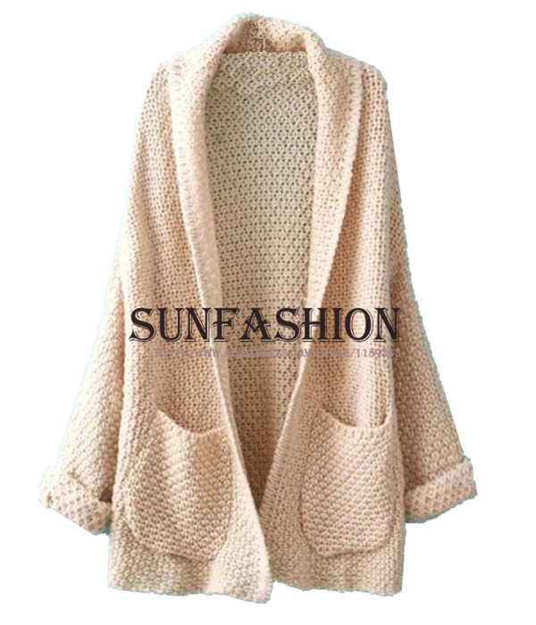 For Women Autumn Winter Knitting Coat Maxi Cardigans Hot Sale ...
