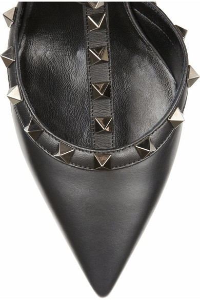 Valentino|Rockstud leather pumps|NET-A-PORTER.COM