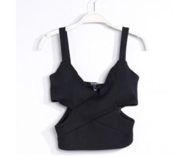 t-shirt crop tops black summer