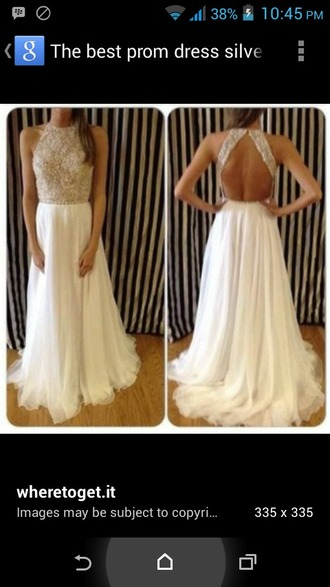 dress cream sequins prom dress prom gown colour long long dress floor length dress