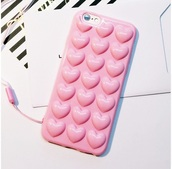phone cover,girly,pink,heart,iphone cover,iphone case,iphone,phone,pastel phone case