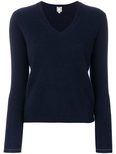 Ines de la Fressange sweater knitted sweater women blue