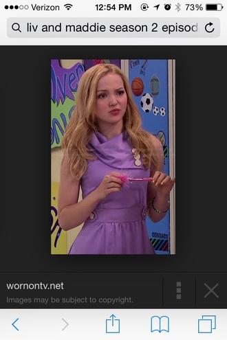 dove cameron purple dress