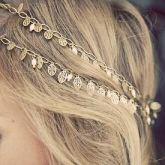 jewels leaf headband gold hipster wedding headband gold headpiece boho hippie jewelry hair accessory hair