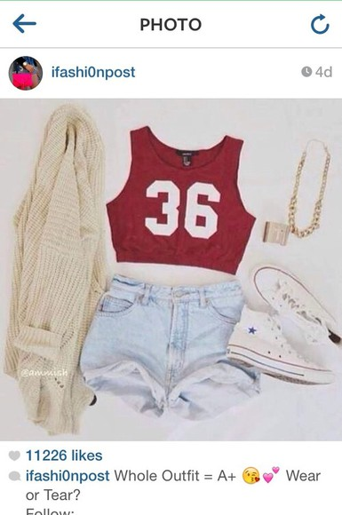 loose fit tank top shorts sweater lightdenim cuffed shorts