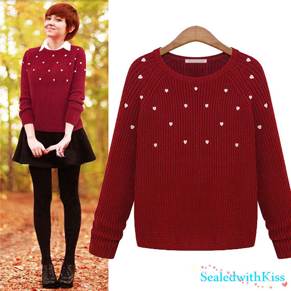 Christmas Sweater,Women Sweater,Lovely Girl Sweater,Clothing Gift ...