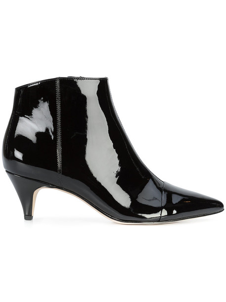 Sam Edelman pointed boots women boots leather black shoes