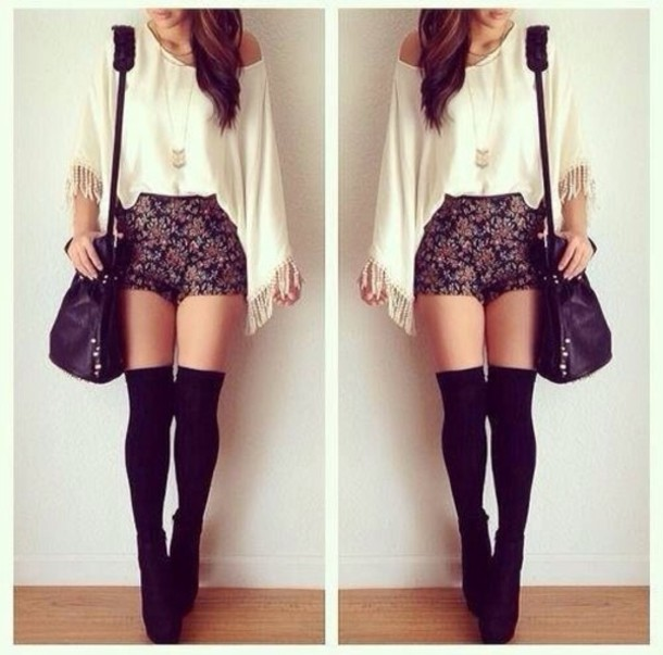 shirt shorts shoes underwear bag cute weheartit girly ...