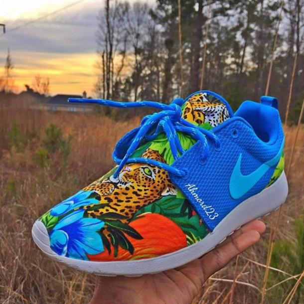 nike nike running shoes nike shoes sneakers blue animal print animal
