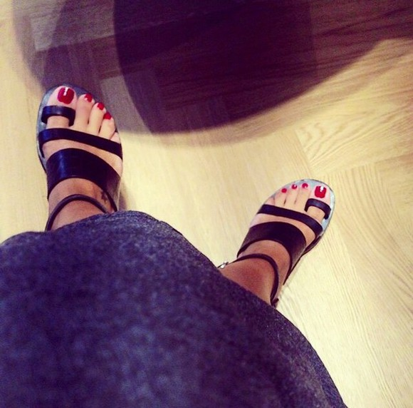 black cool shoes sandals feet fashion summer hot weather love