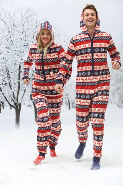 Christmas Sweater Dresses Onesie Couple Sweaters Funny Boyfriend