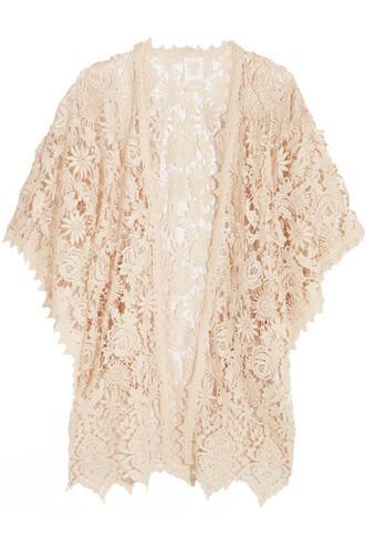kimono lace kimono lace cream top