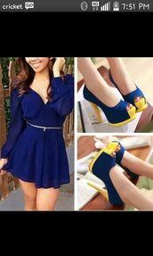 bluedressromper,blue dress,romber dress