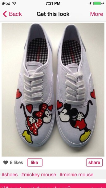 shoes mickey mouse