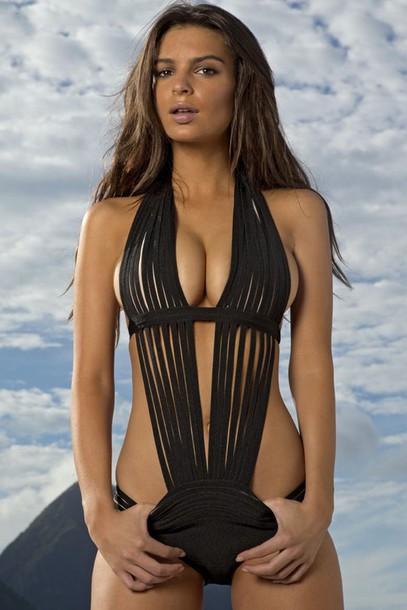 swimwear, one piece swimsuit, dope swimwear, black ...