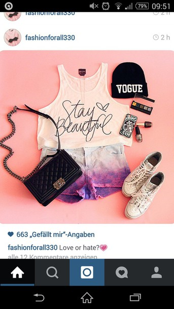 t-shirt stay beautiful black and white outfit shorts