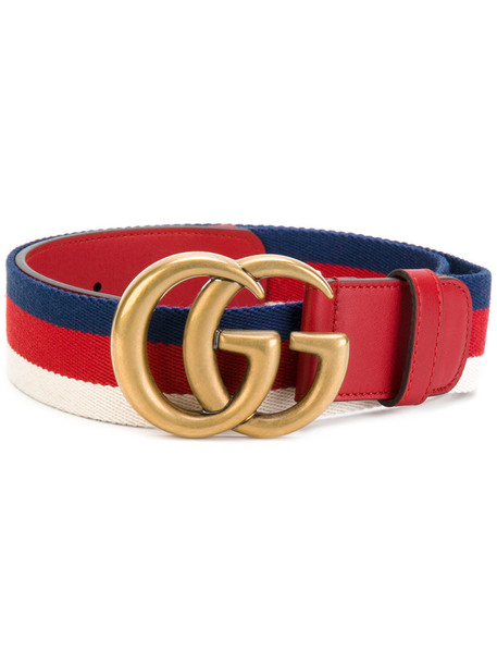 gucci women belt leather cotton red