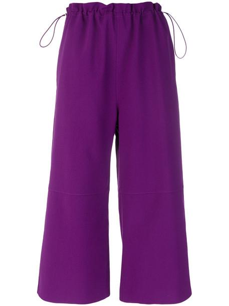 Mm6 Maison Margiela cropped women purple pink pants