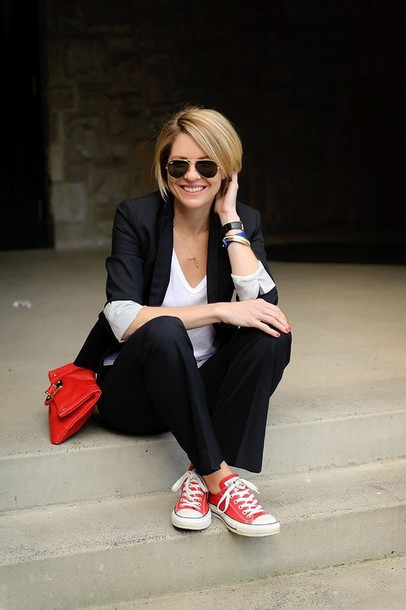 shoes, red converse, converse, red sneakers, low top ...