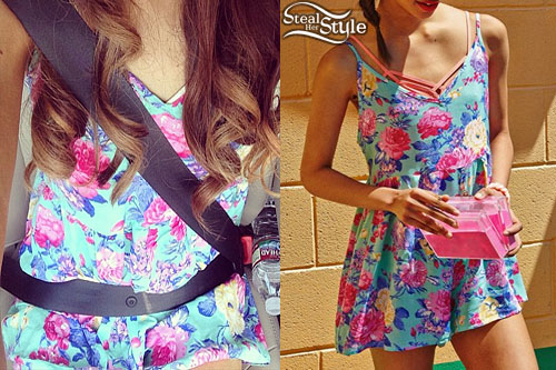 Ariana Grande: Floral Print Romper | Steal Her Style