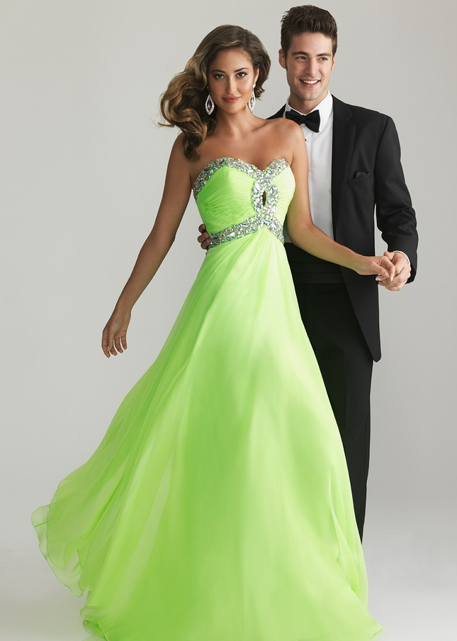 Sequin Crisscross Long Lime Keyhole Prom Dresses 2014 [Night Moves 6642 Lime] - $175.00 : Prom Dresses 2014 Sale, 70% off Dresses for Prom