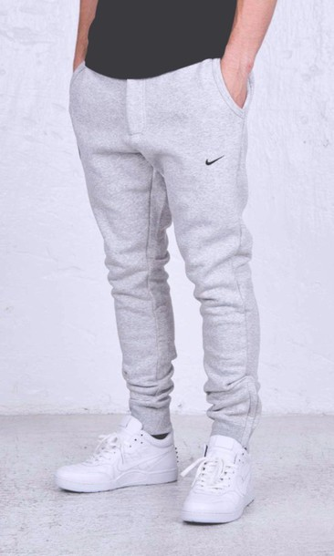 nike men pants mens grey sweatpants sweatpants joggers nike sweatpants menswear nike joggers gray shoes white