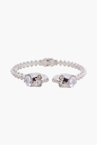 stud jewels bangle women silver skull hinged accessories bracelets