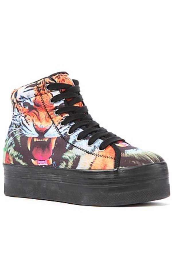 shoes jeffrey campbell platform sneakers tiger homg platform sneakers alien