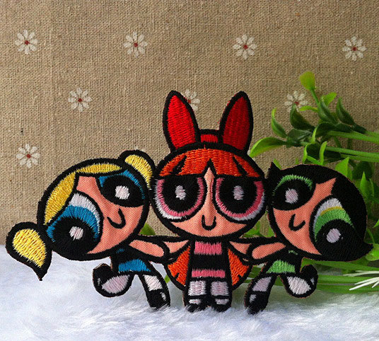 The powerpuff girls logo iron on patch e037