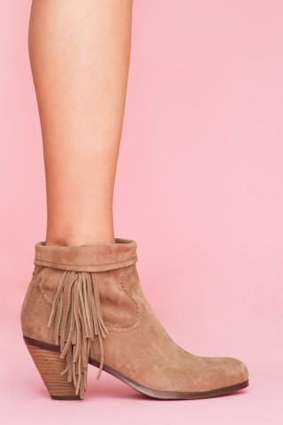 Louie fringe booties