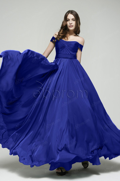 744c3df953e5 dress prom dress off the shoulder long prom dress evening dress formal dress  royal blue