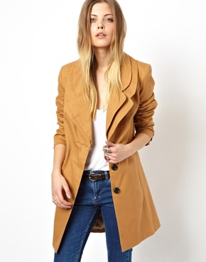 ASOS | ASOS Coat With Double Collar at ASOS
