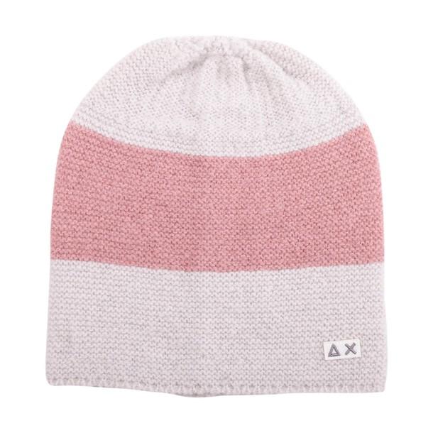 Sun 68 hat wool pink grey