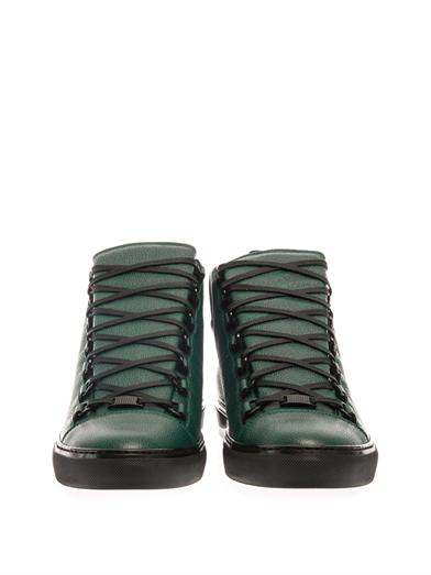 Arena high-top leather trainers | Balenciaga | MATCHESFASHION.COM