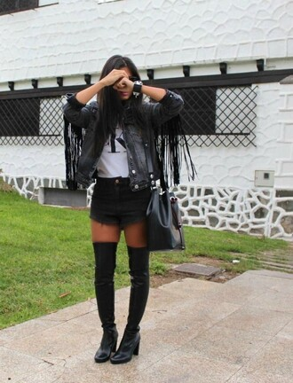 style by nelli blogger jacket shirt top shorts bag sunglasses jewels
