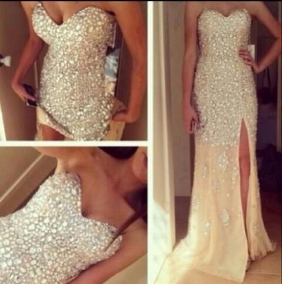 dress prom diamonds shiny dress glitter formal sparkles prom dress