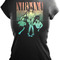 Nirvana - rainbow sitting women's t-shirt in black