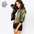 Aliexpress.com : Buy Haoduoyi Womens 2016 New Spring Short Casual Slim Army Green Coat Outwears Bomber Zipper Fashion Flight Jackets for wholesale from Reliable jacket china suppliers on NEW FASHIONS | Alibaba Group